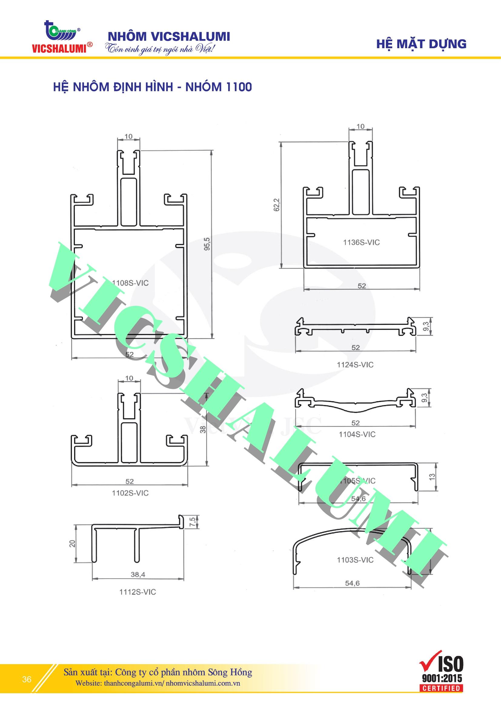 Hệ Nhôm Định Hình - Nhóm 1100